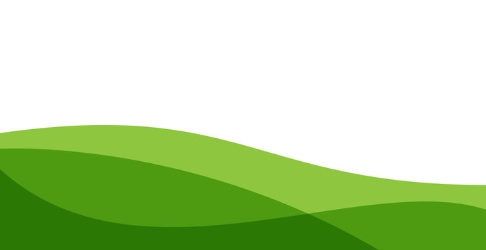 simple green background . modern wavy background style