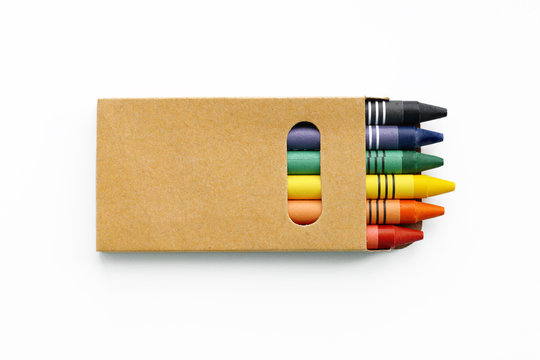 A small box of color pencils. Mock up