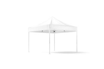 Fototapeta Blank white pop-up canopy tent mock up, half-turned view obraz