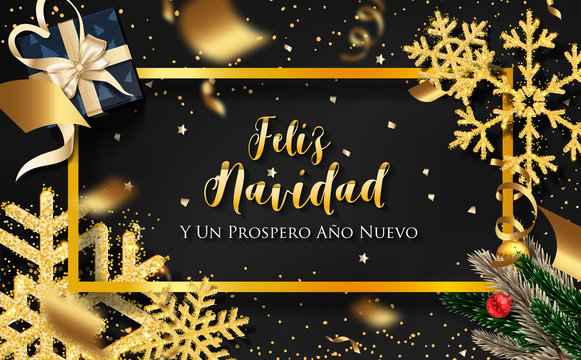 Spanish Christmas (Feliz Navidad) and Happy New Year 2020 greeting card