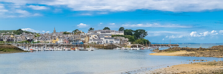 Douarnenez in Brittany, panorama of the harbor