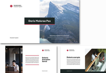 Corporate Presentation Layout with Red Accents