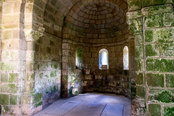 interior of vaulted chapel of monastery of Fragas do Eume