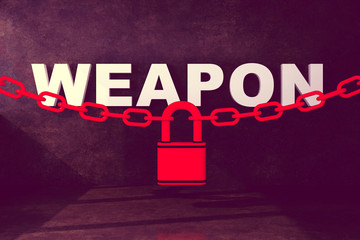 blocking weapon with chain lock