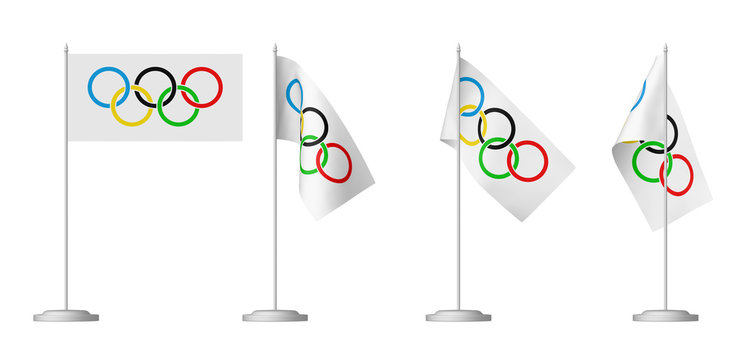 Olympic table flags set