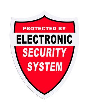 Security System Sticker
