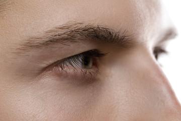 Closeup of male eye