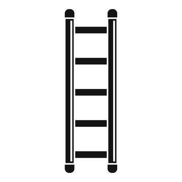 Ladder icon. Simple illustration of ladder vector icon for web design isolated on white background