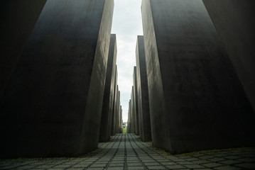 Low angle view of Holocaust Memorial at Berlin, Germany