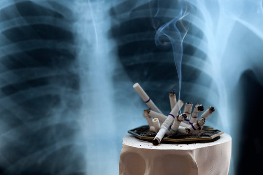 concept of the dangers of smoking cigarettes, the danger of cigarette smoke to humans