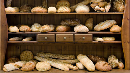 Brot, bio, Holz, Vintage
