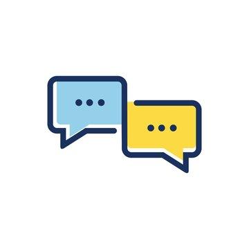 Chat app logo icon vector design template