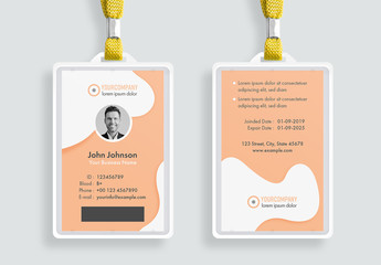 ID Card Layout with Shape Elements