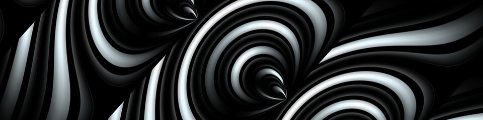 Digital art, panoramic abstract 3D objects, Germany