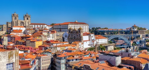 Historic center of Porto in Portugal. Fotomurales