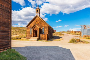 Church in the Ghost town of Bodie California USA