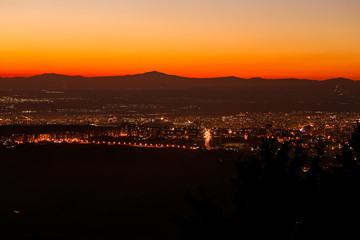 Foto op Canvas Las Vegas sunset and the city erevan