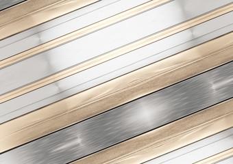 Fototapeta metallic creative background golden striped 3d-illustration