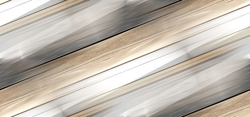 Fototapeta seamless metallic creative texture background 3d-illustration golden striped