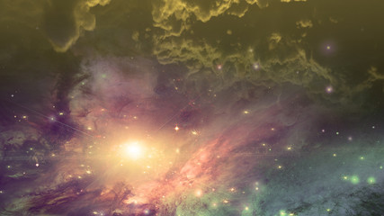 Fototapete - Deep space scene. Super nova