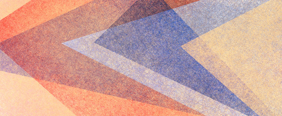 Wall Mural - Abstract modern background in purple blue and orange colors and contemporary triangle square and block shapes layered in random geometric art pattern with fine texture