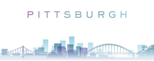 Pittsburgh Transparent Layers Gradient Landmarks Skyline