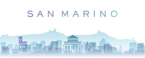 San Marino Transparent Layers Gradient Landmarks Skyline Wall mural