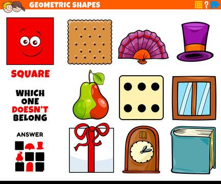 square shape educational task for kids