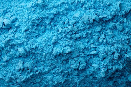 Blue bath bombs dry mixture background