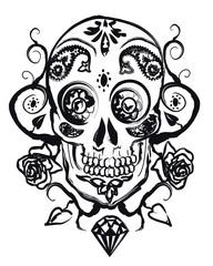 Fotorollo Aquarell Schädel Crâne latino à l'encre