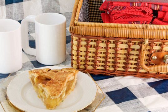 Picnic Basket and a Slice of Apple Pie