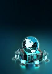 Fototapete - Internet Computer Network Concept
