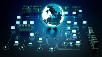 Wall Mural - Internet Computer Network Concept