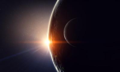Fototapete - Our unique universe . Mixed media