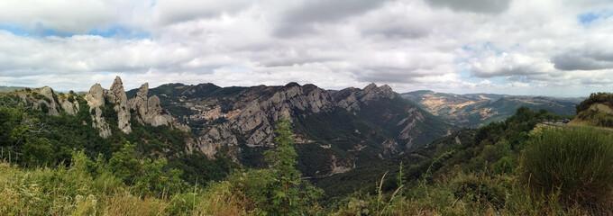 Mountain range, Dolomiti Lucane, Basilicata, Italy