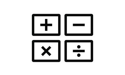 calculator icon vector