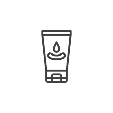 Lubricant gel line icon. linear style sign for mobile concept and web design. Anal lubricant outline vector icon. Symbol, logo illustration. Vector graphics