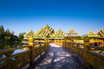 Famous architecture inside Muang Bora (Ancient City) in Thailand.