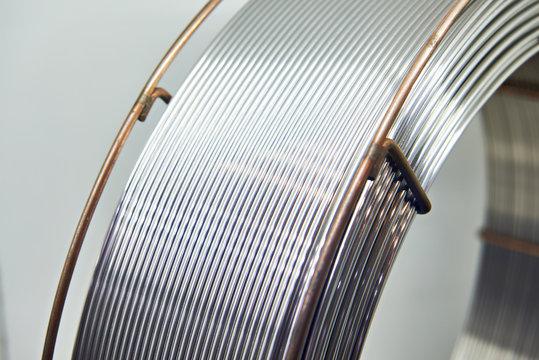 Aluminum wire in coil