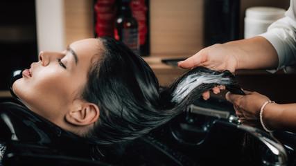 Hair treatment in Beauty Salon