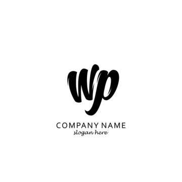 Initial WP black and white logo template