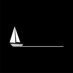 Boat icon isolated on black background
