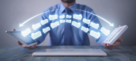Copy files, data exchange. Files transfer