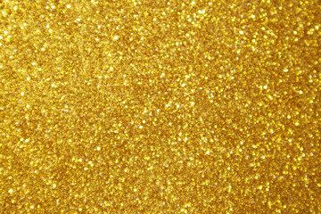 Abstract gold glitter sparkle bokeh light background