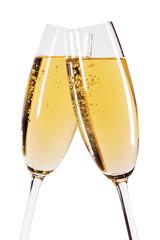 Foto auf Leinwand Alkohol Two glasses of champagne