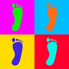 Fuß und Popart