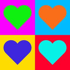 Herz und Popart