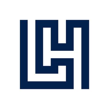 LH logo initial letter design template vector illustration