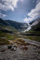 Hardangervidda hike from Husedalen beautiful waterfalls Norway