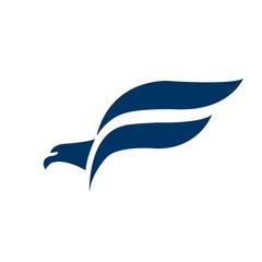 Letter F Falcon Bird Logo abstract design vector template.